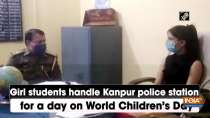 Girl students handle Kanpur police station for a day on World Children