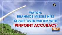 Watch: BrahMos missile hits target over 250 km with