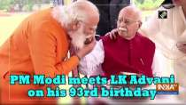 PM Modi meets LK Advani on his 93rd birthday