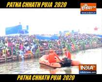 Chhath: Thousands throng ghats in Patna