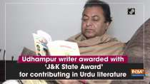 Udhampur writer awarded with