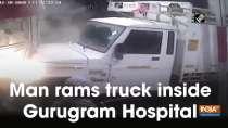 Man rams truck inside Gurugram Hospital