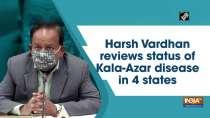Harsh Vardhan reviews status of Kala-Azar disease in 4 states