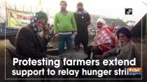 Protesting farmers extend support to relay hunger strike