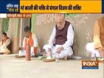 Amit Shah, Kailash Vijayvargiya, Dilip ghosh have lunch at farmer