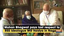 Mohan Bhagwat pays last respect to RSS ideologue MG Vaidya in Nagpur