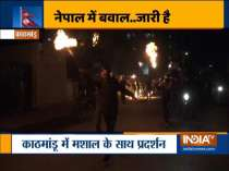 Student union of Nepal Communist Party faction stages protest in Kathmandu