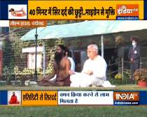 Swami Ramdev shares yoga poses and acupressure points to get rid migraine headache naturally