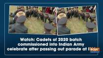 Watch: Cadets of 2020 batch commissioned into Indian Army celebrate after passing out parade at IMA