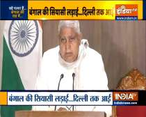 WB Governor Jagdeep Dhankar addresses media day after attack on Nadda