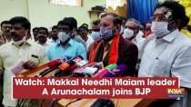 Watch: Makkal Needhi Maiam leader A. Arunachalam joins BJP