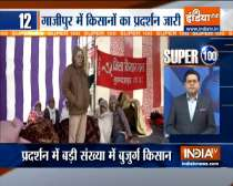 Farmers continued to hold protest at ghazipur border | Watch Super 100  News