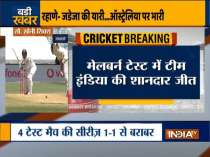 India vs Australia 2nd Test, Day 4: India beat Australia at MCG to level series 1-1