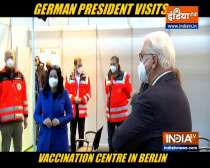 German President visits vaccination centre in Berlin