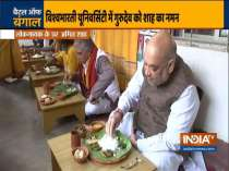 Home Minister Amit Shah lunches at folk singer