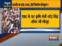 Shah holds high-level meeting at his residence; Narendra Singh Tomar, Piyush Goyal also present