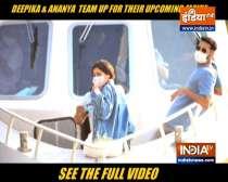 Ananya Pandey, Deepika and Siddhanth head to shoot
