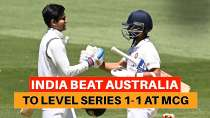 Boxing Day Test: India bounce back from Adelaide horror to level series 1-1 at MCG