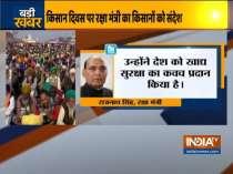Rajnath Singh greets farmers of Nation on