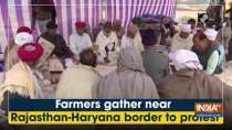 Farmers gather near Rajasthan-Haryana border to protest