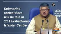 Submarine optical fibre will be laid in 11 Lakshadweep Islands: Centre