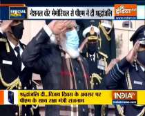 Prime Minister Narendra Modi pays tribute to soldiers on 50th anniversary of 1971 India-Pak war