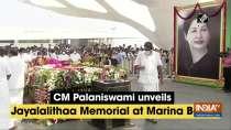CM Palaniswami unveils Jayalalithaa Memorial at Marina Beach
