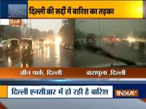 Rain lashes Delhi-NCR on chilly winter morning