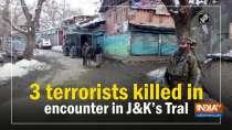 3 terrorists killed in encounter in Jammu and Kashmir
