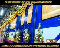 First indigenously-built Metro rake arrives in Mumbai