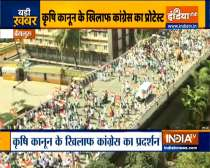 Congress holds a massive protest march against Farms Laws