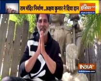 Akshay Kumar donates for construction of Ayodhya
