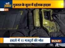 Surat: Speeding truck mows down 15 sleeping migrant labourers on footpath