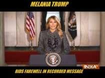 Melania Trump bids farewell in recorded message