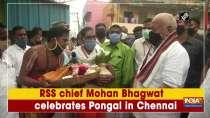 RSS chief Mohan Bhagwat celebrates Pongal in Chennai