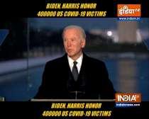 Biden, Harris honor 400,000 US COVID-19 victims