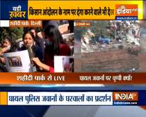 Tractor rally violence: Families of injured Delhi Police personnel protest near ITO