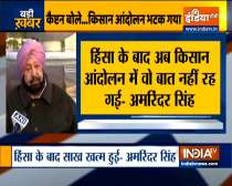 Farmers protest has lost credibility after Red Fort breach, says Amarinder Singh on R-Day violence