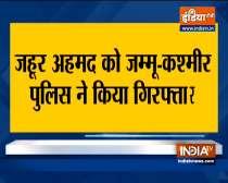 Jammu and Kashmir Police arrests top TRF militant  Zahoor Ahmad Rather last night