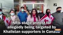 NRIs stage protest for allegedly being targeted by Khalistan supporters in Canada