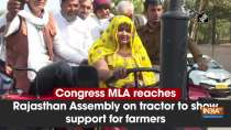 Congress MLA reaches Rajasthan Assembly on tractor to show support for farmers