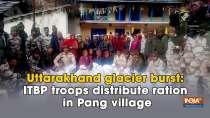Uttarakhand glacier burst: ITBP troops distribute ration in Pang village