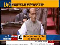 Defence Minister Rajnath Singh makes a statement on 'present situation in Eastern Ladakh' in Rajya Sabha