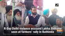 R-Day Delhi violence accused Lakha Sidhana seen at farmers