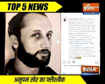 Top 5 News | Anupam Kher shares portfolio picture from 1981; Watch video for more news