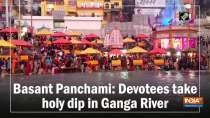 Basant Panchami: Devotees take holy dip in Ganga River