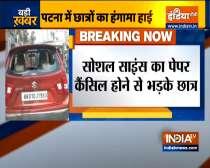 Bihar: Cars vandalised by Students near Patna