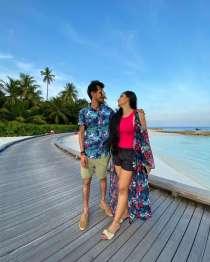 Yuzvendra Chahal and wife Dhanashree Verma enjoy honeymoon in Maldives, share photos with fans