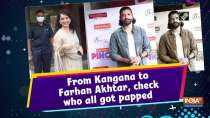 From Kangana to Farhan Akhtar, check who all got papped