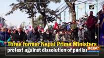 Three former Nepal Prime Ministers protest against dissolution of parliament